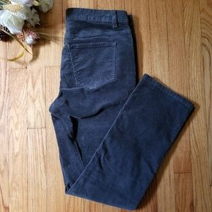 Talbots Heritage Fit Corduroy Jeans Gray Size 10
